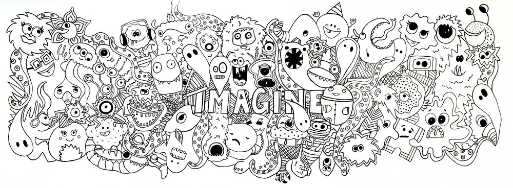 'Imagine' Mural  - Interactive Mural located at the Sarah Mclachlan School of Music. (in progress/Feb 2018)Vancouver, Canada