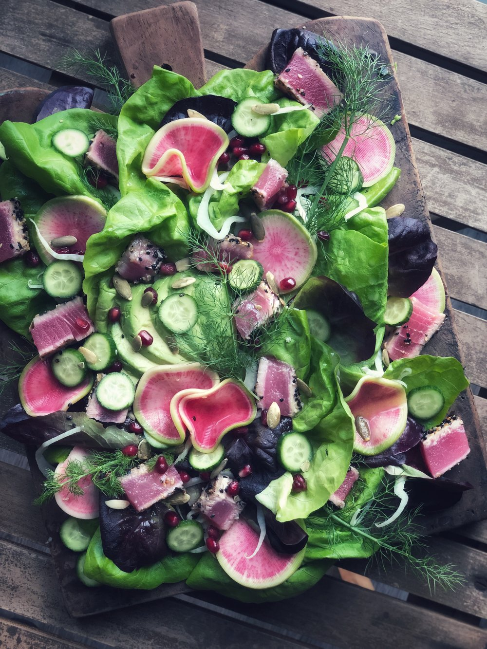 Radiant Radishes in Sweet Greens