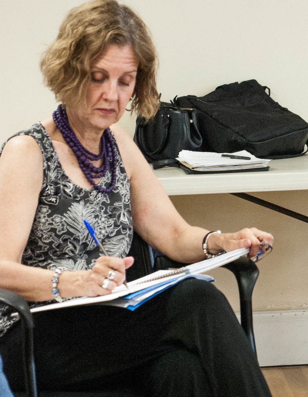 Judi Lagana, Co-editor, at an Amherst Writers Workshop