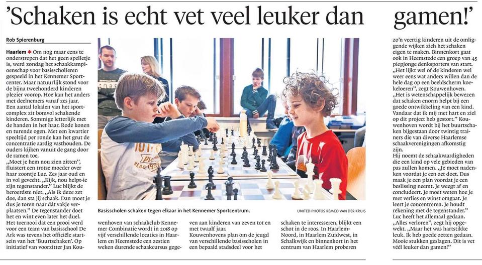 Bron: haarlems dagblad, 5 februari 2018