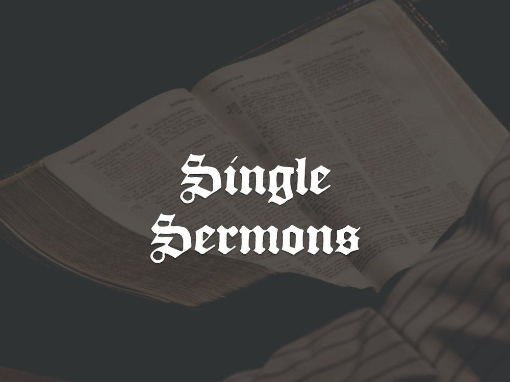 Single Expositional Sermons