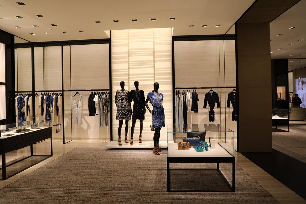 chanel saks fifth avenue retail visual merchandising new york