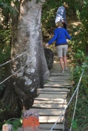 Another footbridge we used.SKETCHY!
