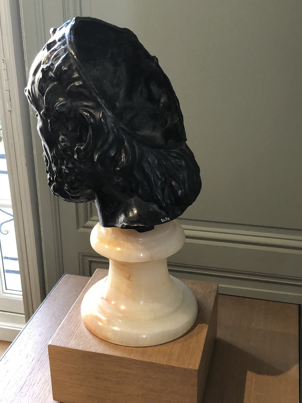 L'Homme au Nez Cassé (1865). Rodin Museum. Shown from Behind to Highlight the Missing Portion.