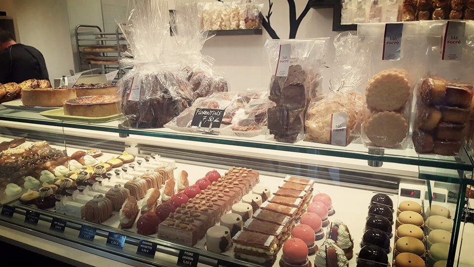 The case of beautiful pastries at Blé Sucré. Photo courtesy of Tal Schultz.