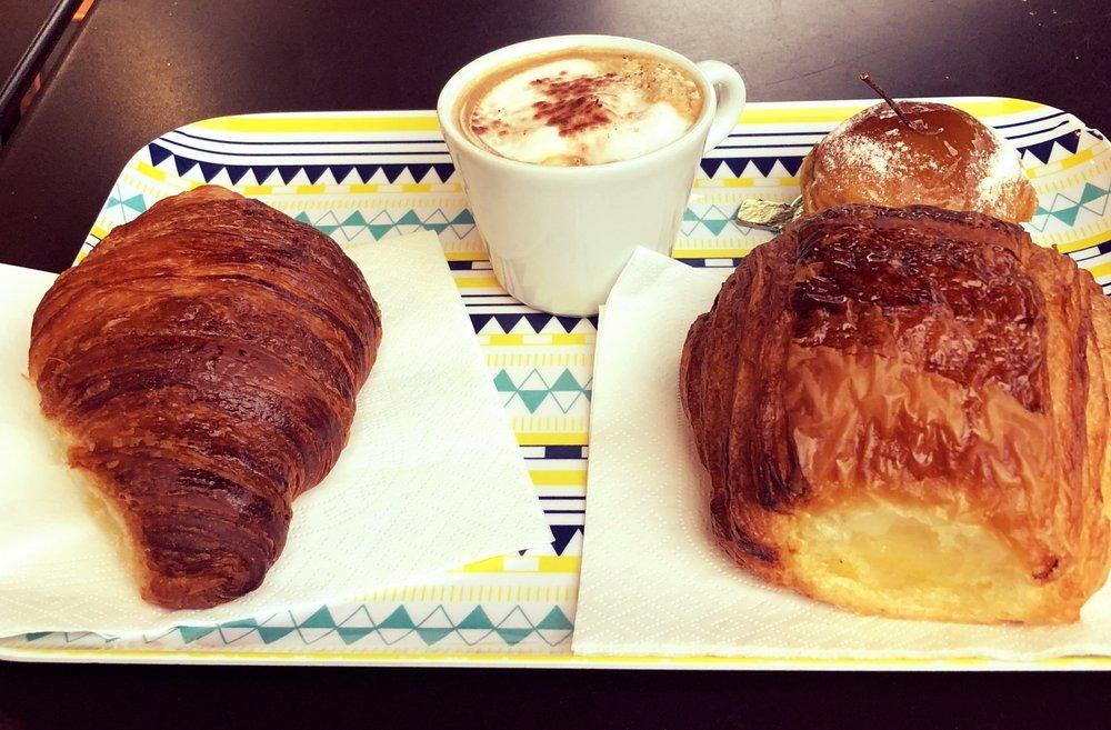 Croissant, Pain au Chocolate, Tarte Tatin at Blé Sucré
