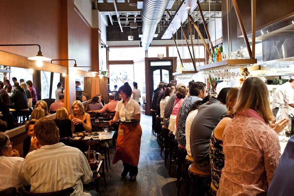 The open kitchen side of Cúrate in Asheville. Picture courtesy of Fathomaway.com.