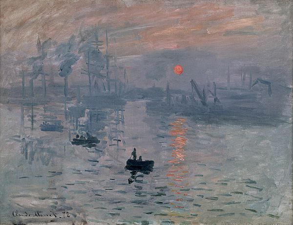 Impression, soleill levant  by Claude Monet. The painting that gave the movement its name.