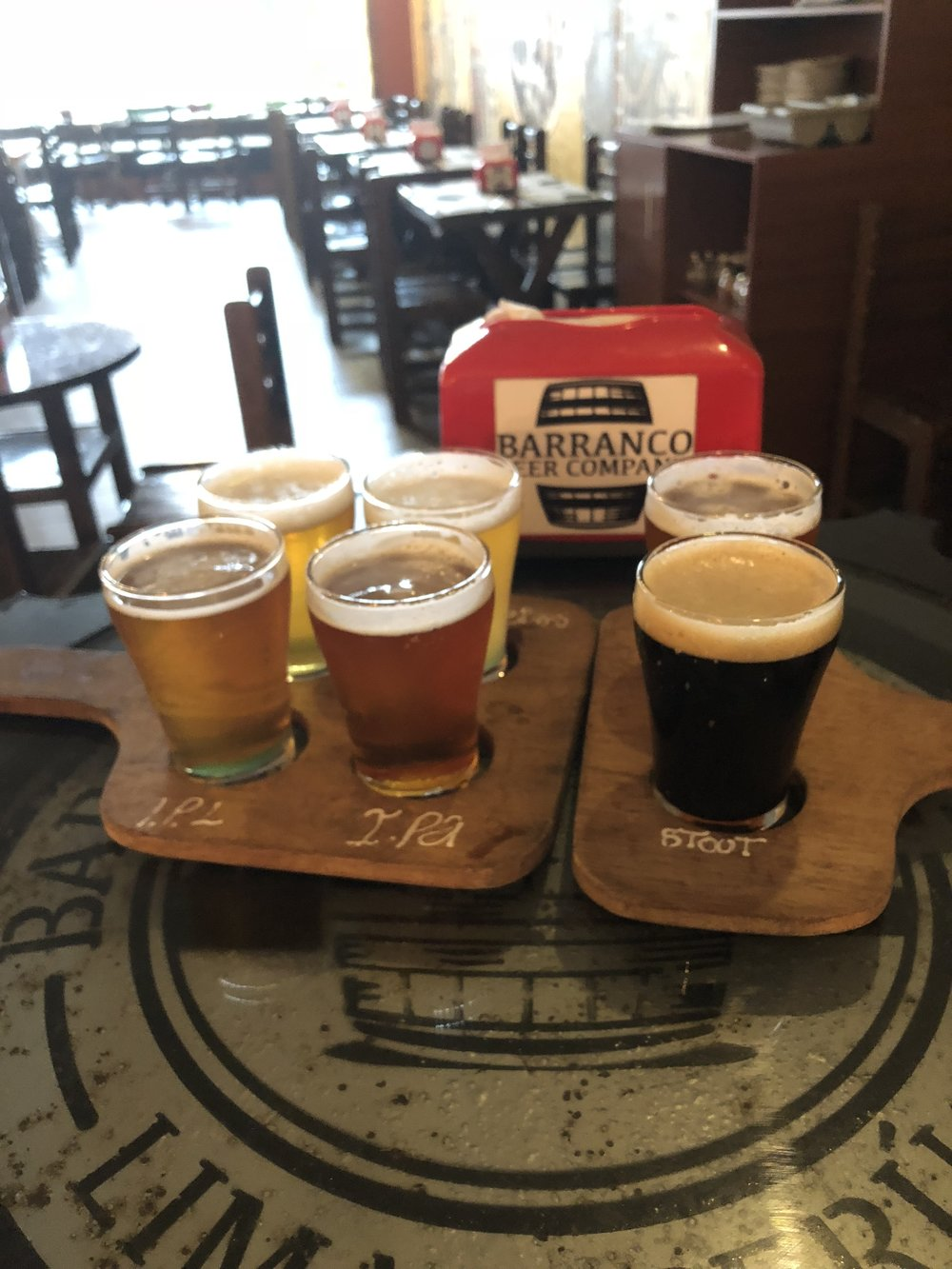 Beer Flight at Barranco Beer Company