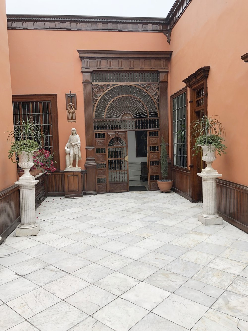 Interior Patio of Casa de Aliaga