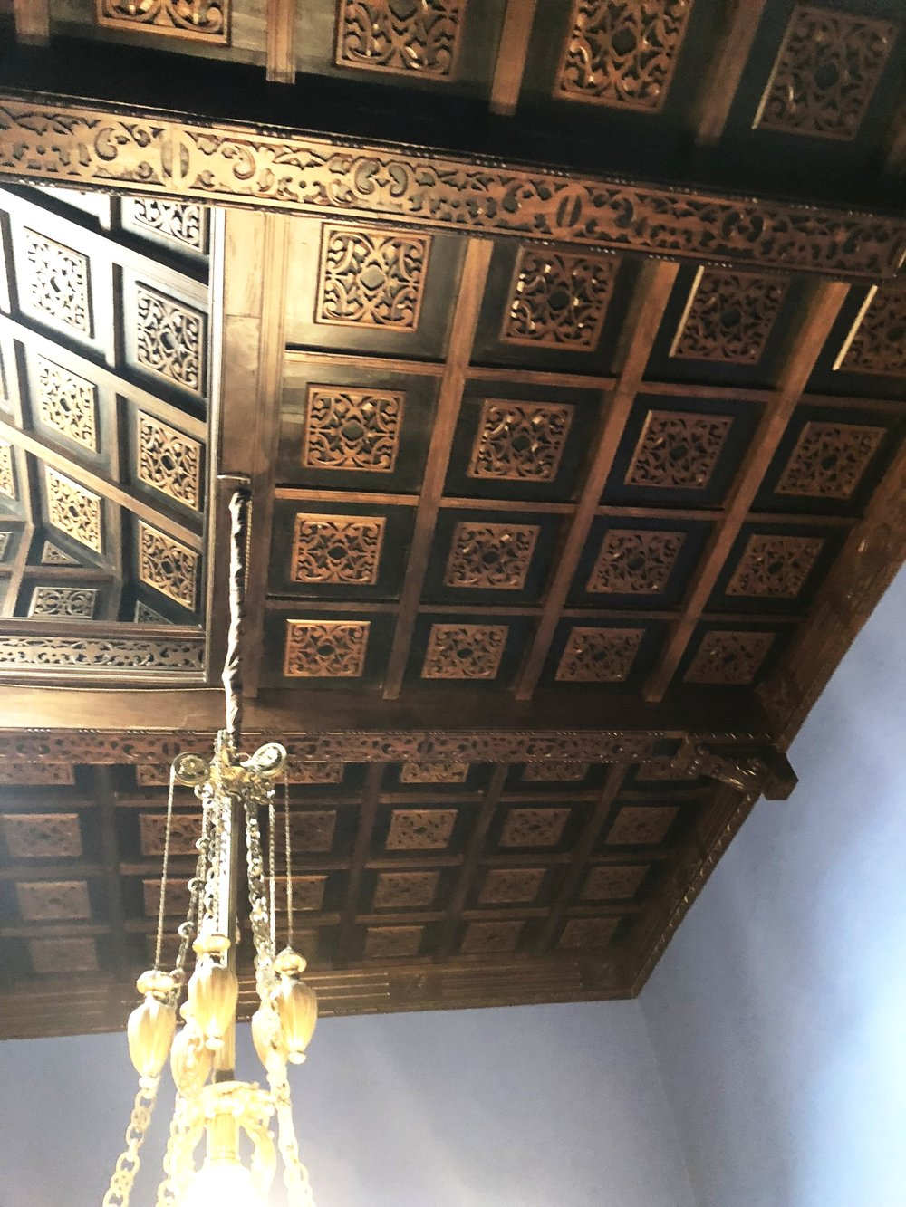 Each Room Has A Unique Ceiling Pattern