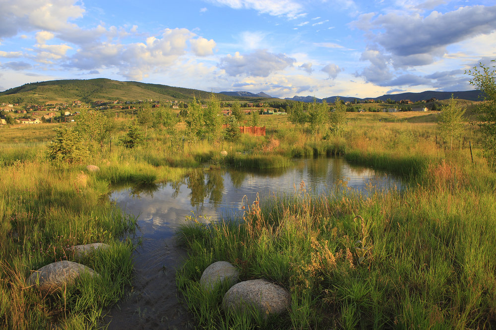 Gravel Pit Reclamation - Western Lands designed the restoration plan for a large gravel pit located in Eagle County, Colorado. We developed a system of streams and ponds along with public trails and wildlife viewing areas. The property was converted to an open space park managed by Eagle County.