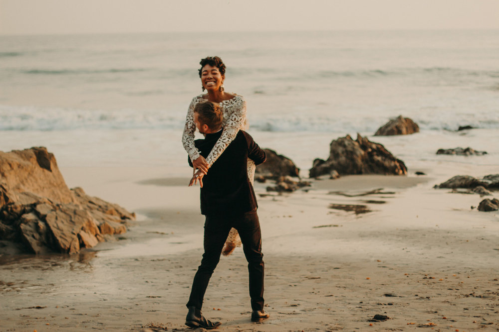 MICHELLE + JOHN - Elopement on the beach in Malibu, CA