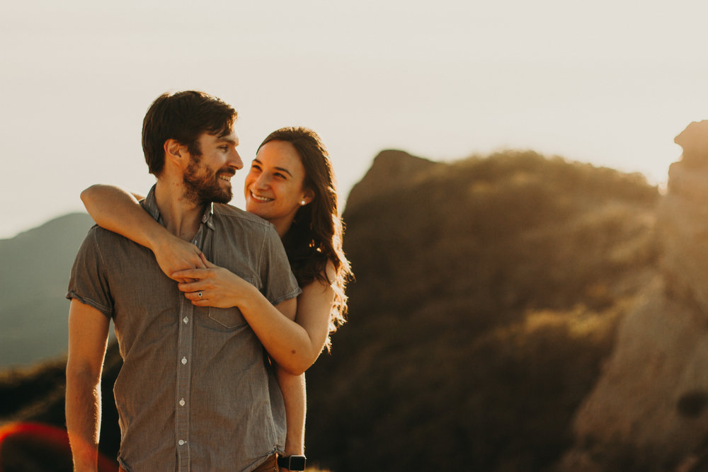 MEGAN + GABE - Sunset engagement in the Santa Monica Mountains