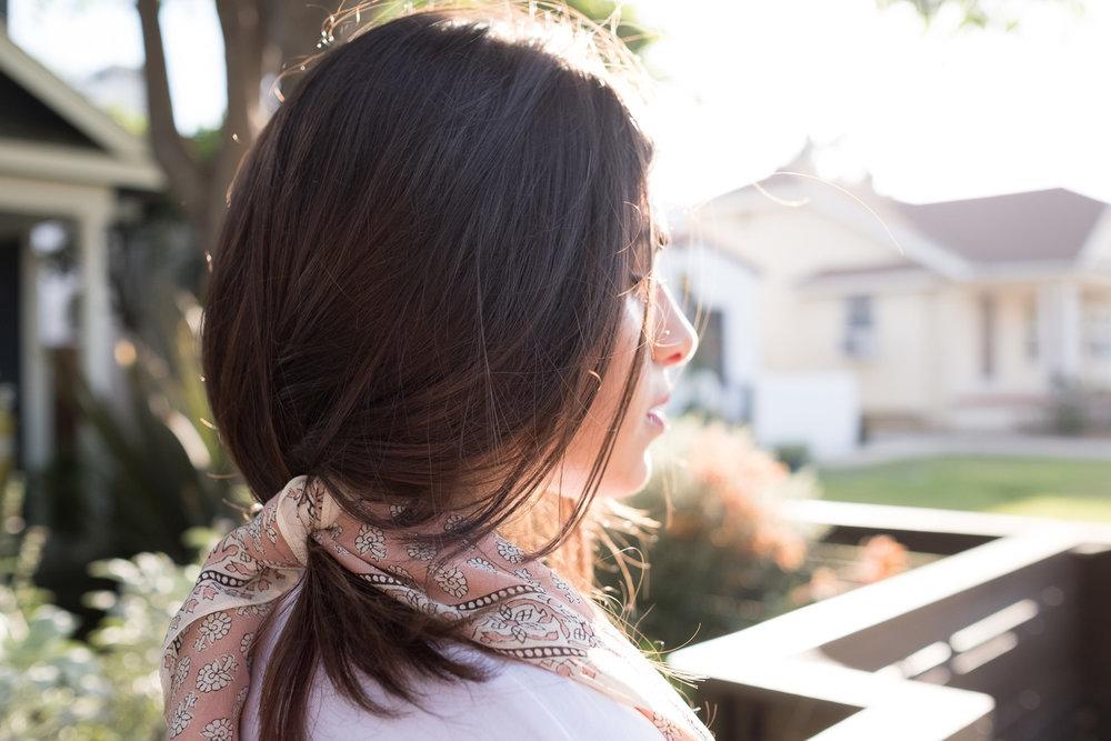 Golden hour hair scarf madewell.jpg