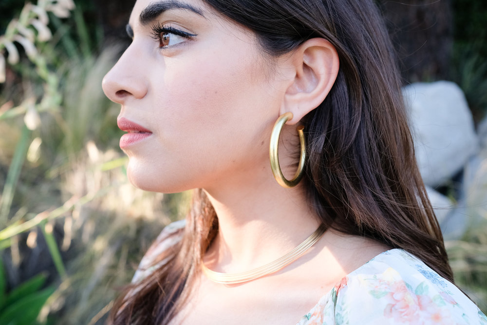 Brass chunky hoops by Madewell