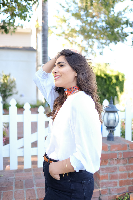 White peasant blouse H&M