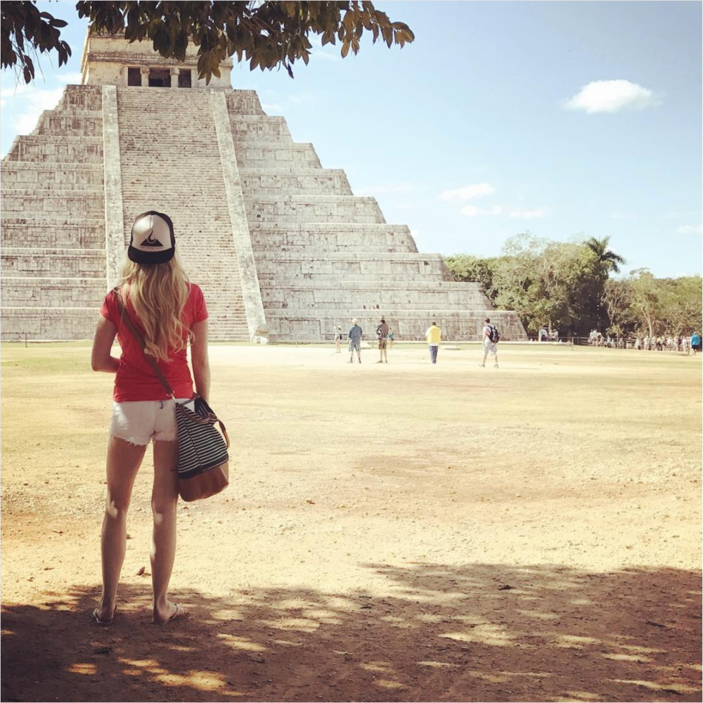 Britnee Kellogg at Chichen Itzá