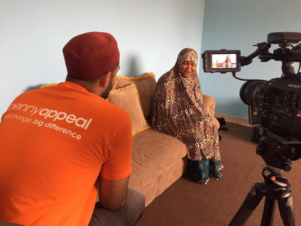 Interviewing a foster mother in Gambia