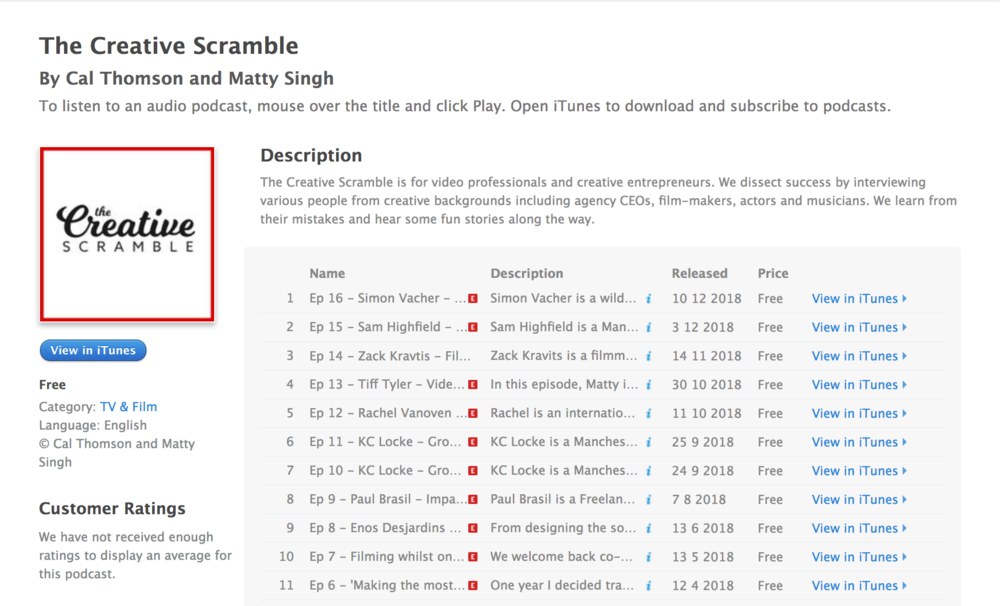 The Creative Scramble Podcast