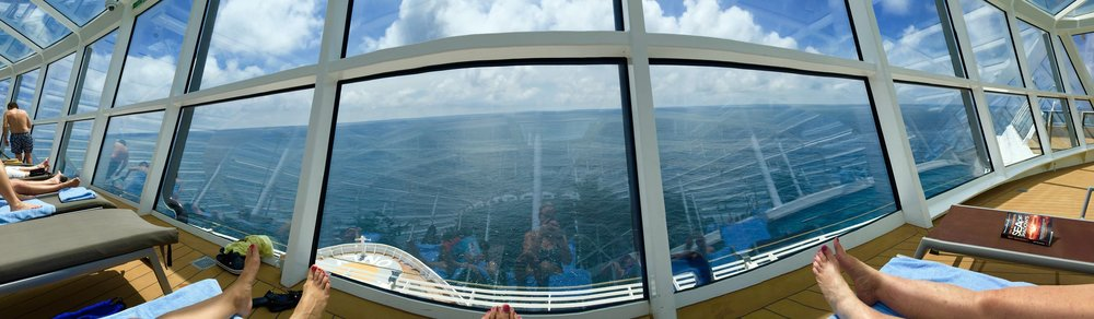 2015,  Anthem of the Seas Solarium view in the Bay of Biscay (Spain)