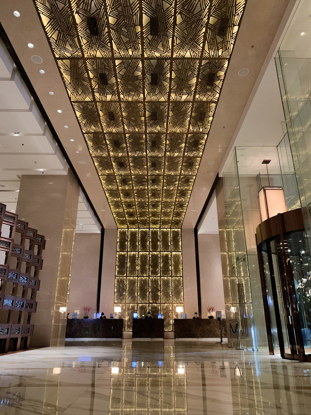 Amazing lobby of the JW Marriott Beijing Central