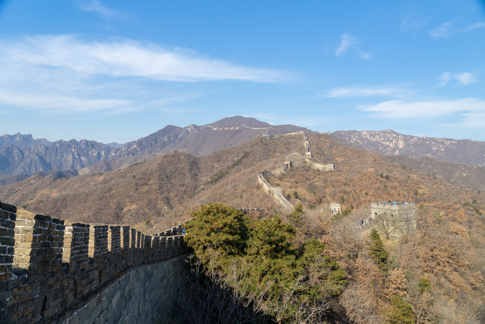 The Mutianyu portion of the Great Wall of China is well maintained and easy to explore, but there are other more rugged portions of the wall if you are up for an adventure