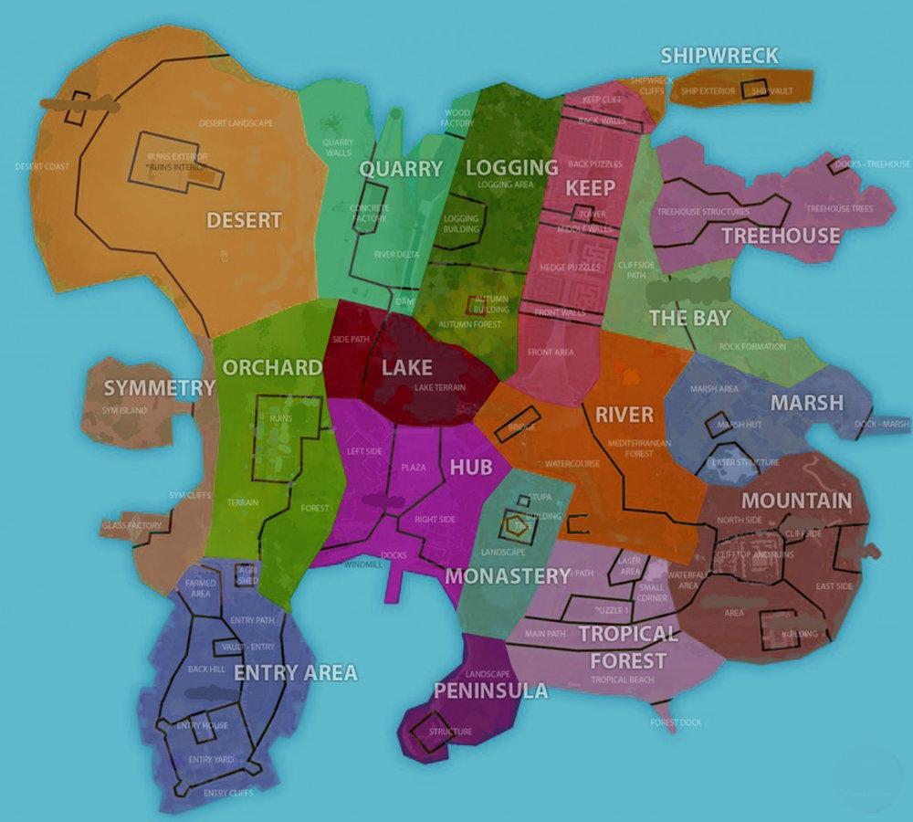 Figure 3 Map of Island zones. (Thekla, 2014)