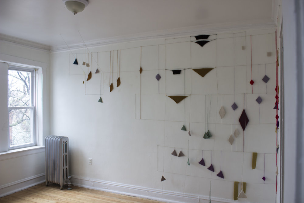 Installation view of  Limited (Mapped) Revision of the Original Unbounded State  at Apparatus