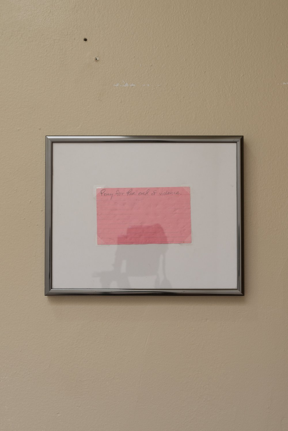 Thomas Huston,  Prayer , 2016/2018, Found index card
