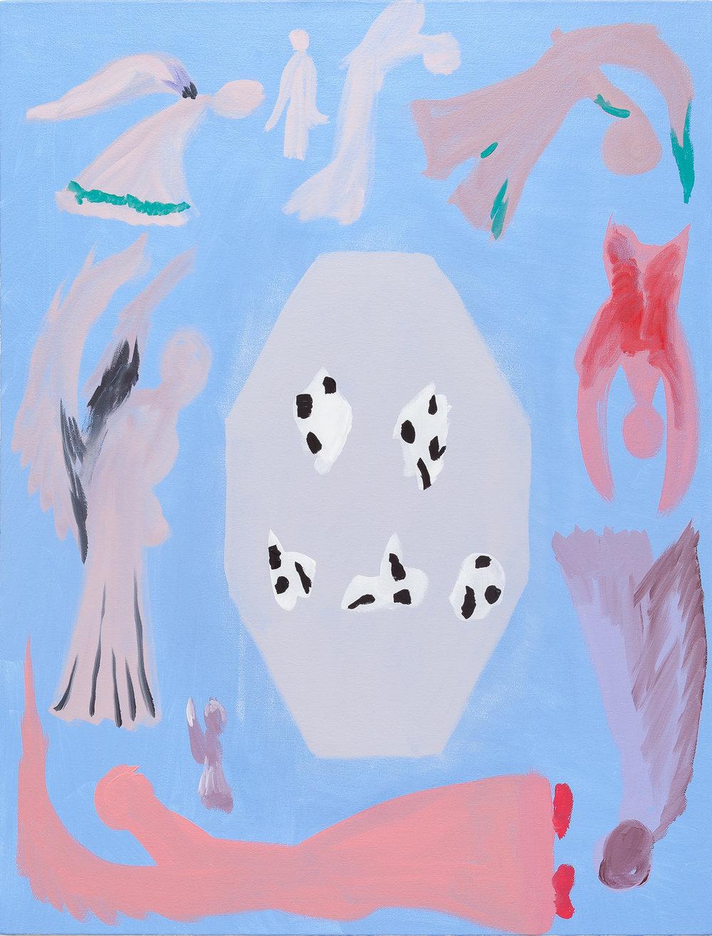 Boaz Horse Vortex , 2018, Oil on canvas