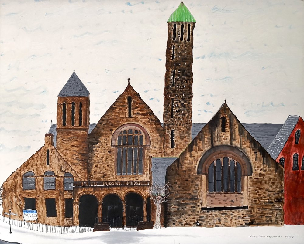 Stephen Coppola, First Presbyterian, Oil on canvas, 22 x 28 inches (55.9 x 71.1 cm),