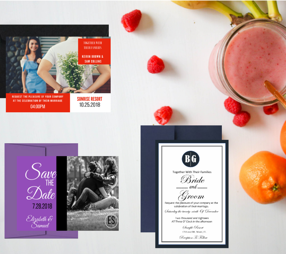Free Sample KIT  - Feel and touch our invitations before you purchase.  feel the difference, you will receive a set including invitation, envelope, RSVP and more. celebrate some more.Order below