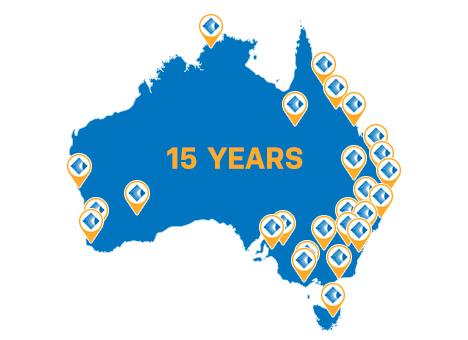 Trust our experience. Trust our reach. - Australia's largest solar installer network for more than 10 years with Power Partners to support you in every city and region Australia-wide.