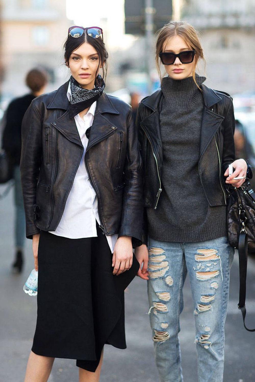 Black neck - street style