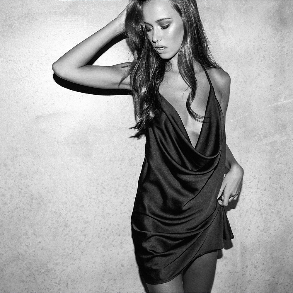 Motel Black Sabia Dress