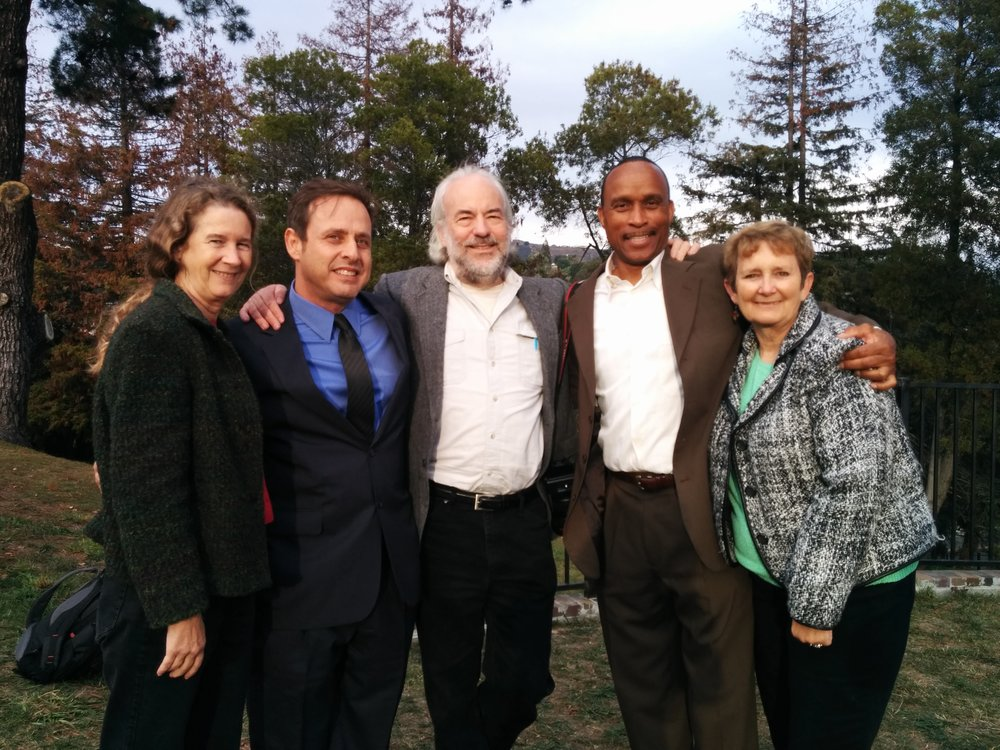Laura Johnston Kohl (far right) at the 36th anniversary gathering at Evergreen Cemetery in Oakland, CA, on November 18, 2014. Photo courtesy of Laura Johnston Kohl via Peoples Temple/Jonestown Gallery (Flickr)