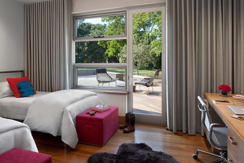 Typical Children's Bedroom looking toward Patio