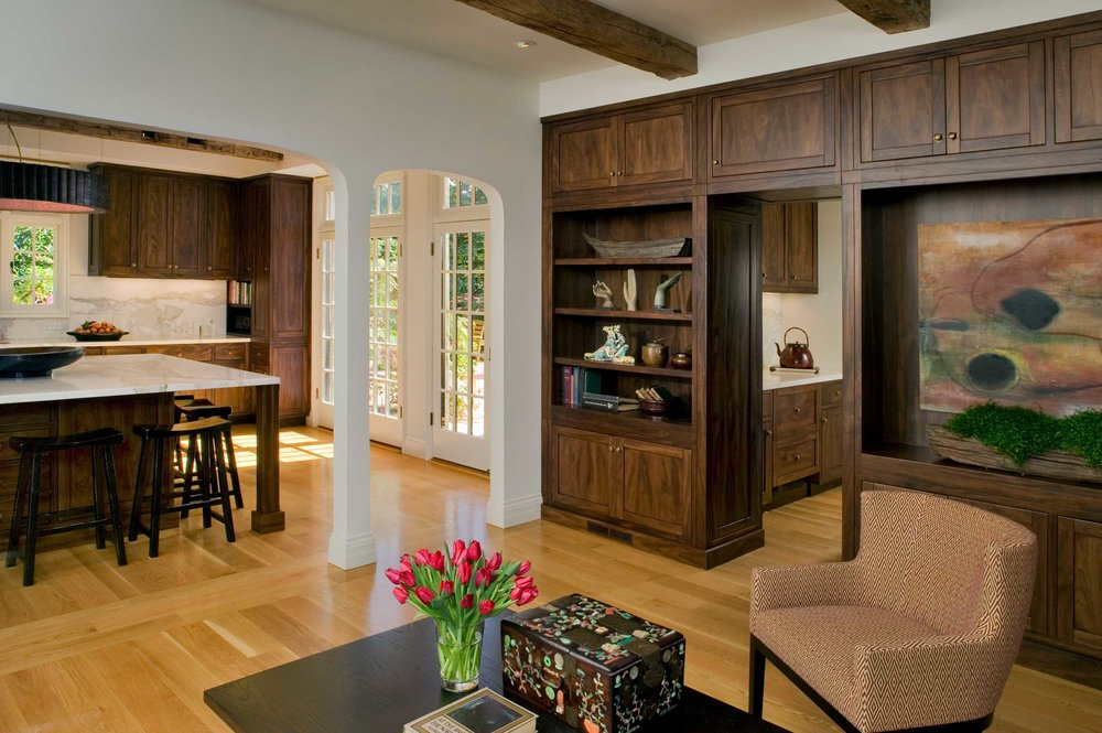 View of Kitchen and Butler's Pantry from Family Room