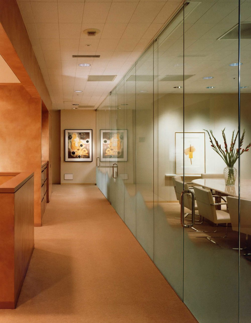 Office Corridor and Conference Room