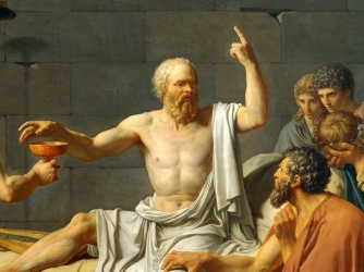 """All of that turmoil only to discover what Socrates said so many centuries ago: """"Scio me nihil   scire  ."""""""