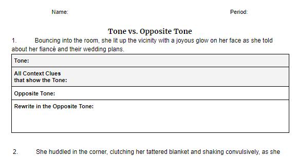 Tone/Opposite Tone