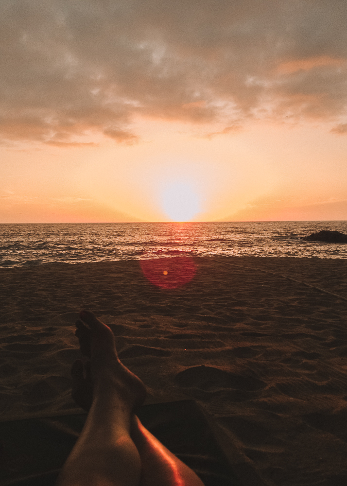 Beautiful beach sunset Sayulita