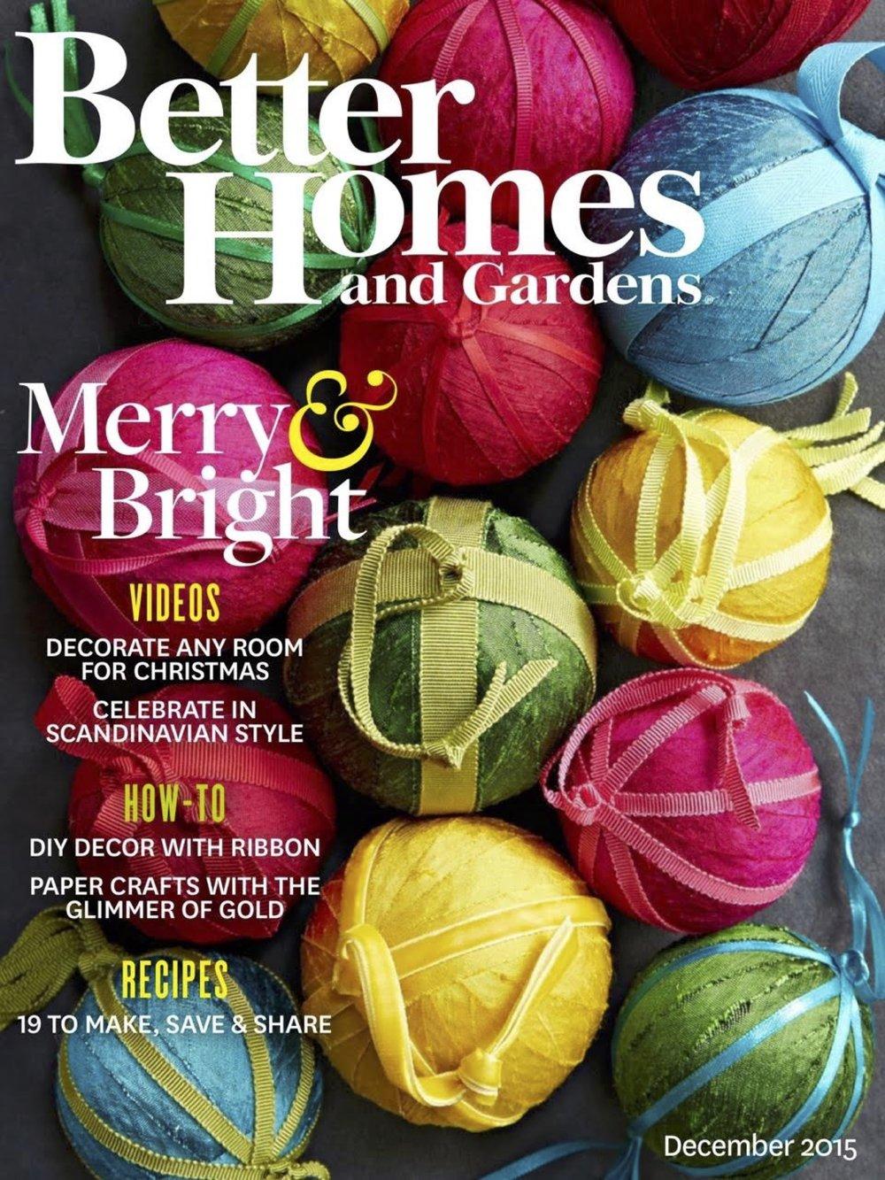 BETTER HOMES & GARDENS DEC 2015