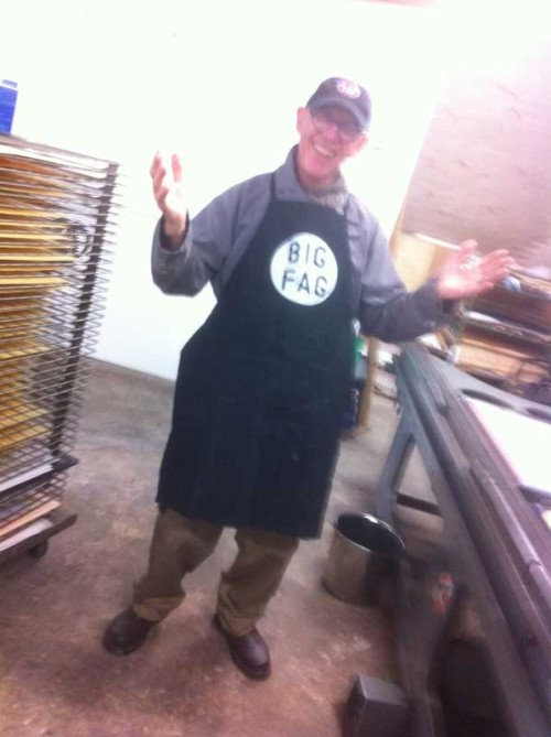JP don the apron with pride