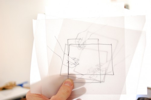 experimenting with tracing paper
