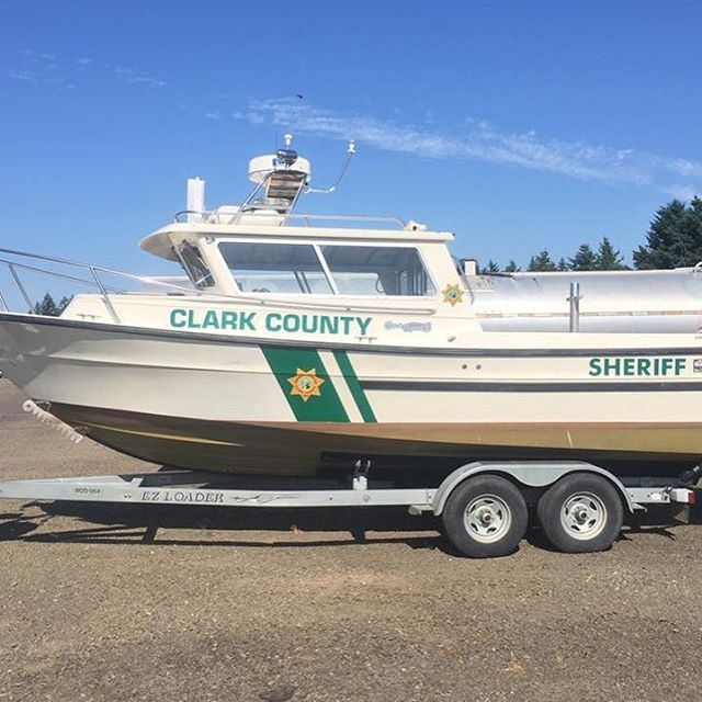 We loved the opportunity to be able to do boat graphics for the Clark County Sheriffs Office Marine Unit!  #rocketfuel #graphics #vehiclewrap #boatgraphics #marketing #branding #graphicdesign #brandidentity #strategy #battlegroundwa #vancouverwa #ccso