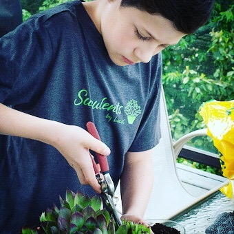 Pretty much our favorite of all time! We did branding, a simple landing page and business plan for this little boy who was looking to combine his love of all things green, support his scouting activities and learn about business ownership and being an entrepreneur. Please support Lucas in his new endeavor! http://succulentsbylucas.com