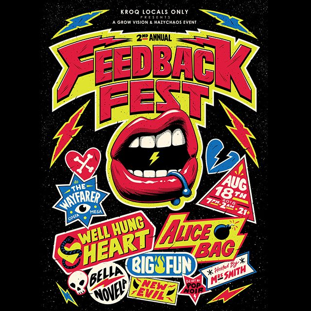 TONIGHT - #FEEDBACKFEST2018 presented by @KROQ Locals Only.  See you kids there. // 7PM 21+ 🔥