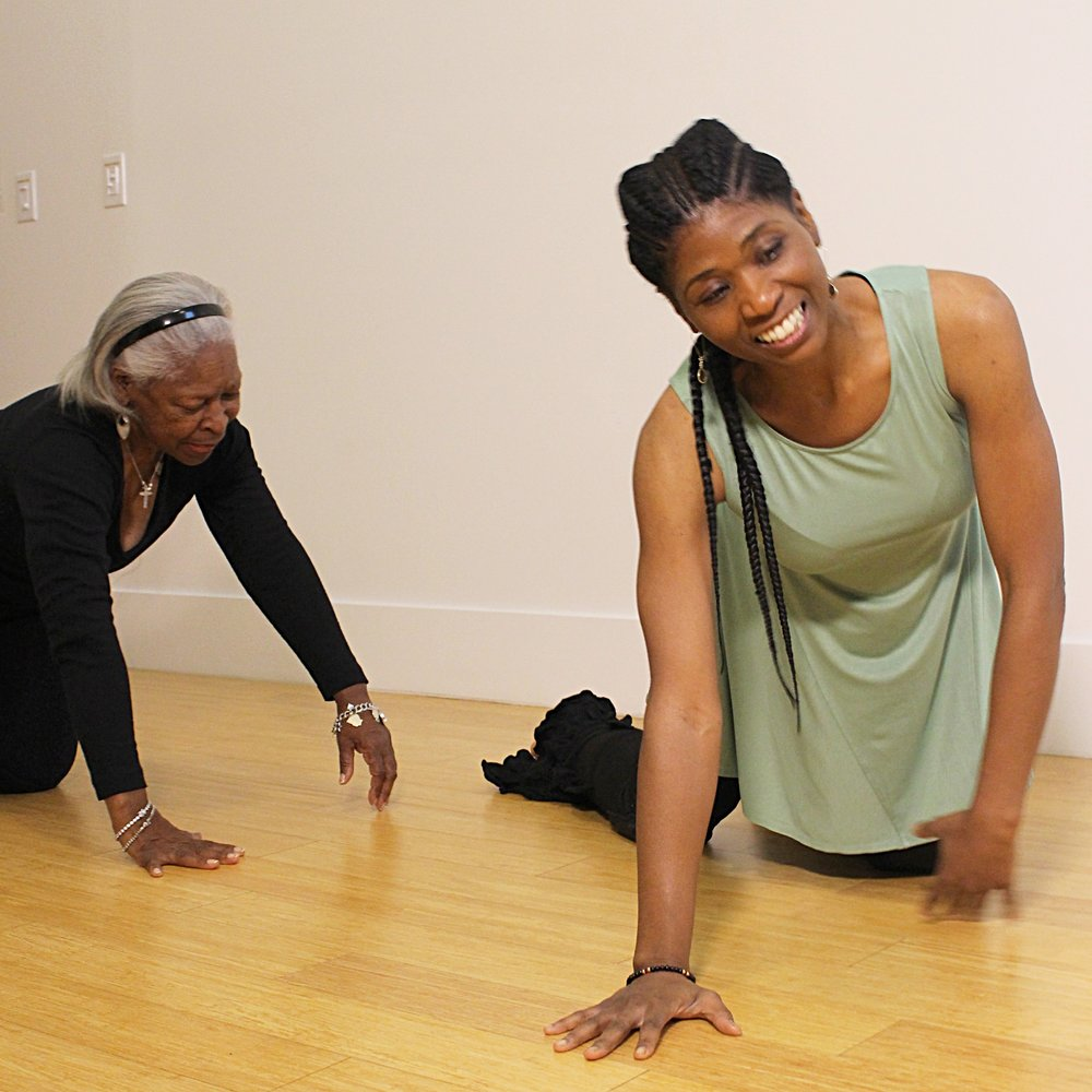 Ms. Benny and Farcia doing Nia 5 Stages (Crawling) during a 1 on 1 session.